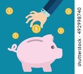 vector piggy bank concept in... | Shutterstock .eps vector #492998740