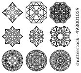 a set of crystal | Shutterstock . vector #493001029