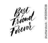 best friend forever. hand drawn ... | Shutterstock .eps vector #493004038