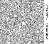cartoon cute doodles new year... | Shutterstock .eps vector #493005310