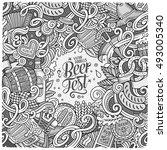 cartoon cute doodles hand drawn ... | Shutterstock .eps vector #493005340