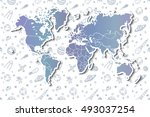 world map with different space... | Shutterstock .eps vector #493037254