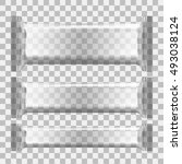 realistic transparent blank... | Shutterstock .eps vector #493038124