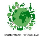 animals on the planet  animal... | Shutterstock .eps vector #493038160