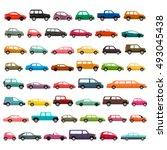 car models icon set | Shutterstock .eps vector #493045438