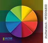 abstract infographic rainbow... | Shutterstock .eps vector #493046800