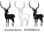 deer silhouette and styling for ...   Shutterstock .eps vector #493048516