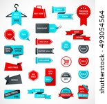 vector stickers  price tag ... | Shutterstock .eps vector #493054564