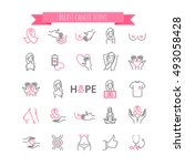 outline web icons   breast... | Shutterstock .eps vector #493058428