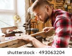profession  carpentry  woodwork ... | Shutterstock . vector #493063204
