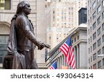 the statue of george washington ... | Shutterstock . vector #493064314