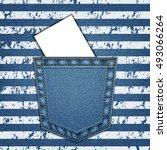 Jeans Pocket. Background Of...