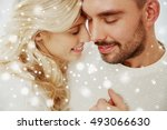family  love  winter and people ... | Shutterstock . vector #493066630