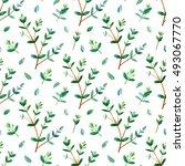 floral seamless pattern... | Shutterstock . vector #493067770
