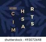 merry christmas abstract vector ... | Shutterstock .eps vector #493072648