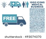 free shipment icon with 1000... | Shutterstock .eps vector #493074370