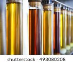 ethanol oil test in tube beaker ... | Shutterstock . vector #493080208