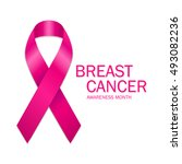 breast cancer awareness month.... | Shutterstock .eps vector #493082236