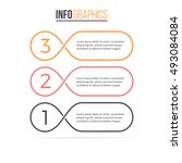 three steps infographics.