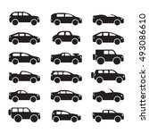 car icons set. vector | Shutterstock .eps vector #493086610