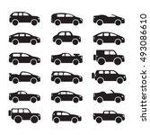 car icons set. vector | Shutterstock .eps vector #493086610