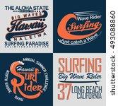 set of creative t shirt graphic ... | Shutterstock .eps vector #493088860