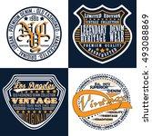 set of vintage typography  t... | Shutterstock .eps vector #493088869