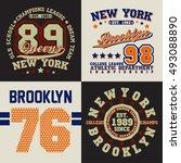 set of t shirt graphic designs  ... | Shutterstock .eps vector #493088890