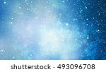 colorful starry night sky outer ... | Shutterstock . vector #493096708