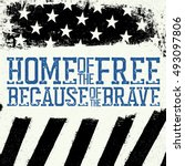thin blue line flag. american... | Shutterstock .eps vector #493097806