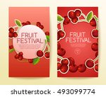 fruit festival   fruit elements ... | Shutterstock .eps vector #493099774