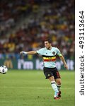 Small photo of NICE, FRANCE - JUNE 22, 2016: Eden Hazard of Belgium controls a ball during UEFA EURO 2016 game against Sweden at Allianz Riviera Stade de Nice, City of Nice, France. Belgium won 1-0