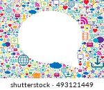 communication in social media... | Shutterstock .eps vector #493121449