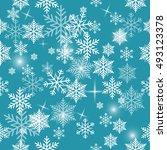 snowflake vector pattern. | Shutterstock .eps vector #493123378