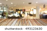wooden floor atmosphere in... | Shutterstock . vector #493123630