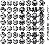 emoji   emoticon   smiley... | Shutterstock .eps vector #493129444