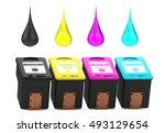 cartridges for inkjet printer... | Shutterstock . vector #493129654