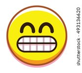 Vector Smiling Face Isolated O...