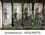 old thai church at mae kampong  ... | Shutterstock . vector #493149070