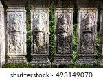 old thai church at mae kampong  ... | Shutterstock . vector #493149070