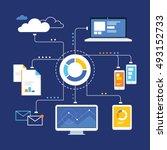 big data analytics ecosystem | Shutterstock .eps vector #493152733