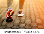 the women fitness and running... | Shutterstock . vector #493157278