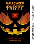 halloween party poster. | Shutterstock .eps vector #493159354