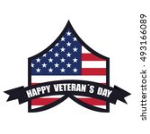 isolated american badge on a...   Shutterstock .eps vector #493166089