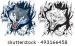 vector cartoon clip art... | Shutterstock .eps vector #493166458