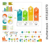 infographics set with color... | Shutterstock .eps vector #493183570