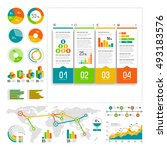 infographics set with color... | Shutterstock .eps vector #493183576
