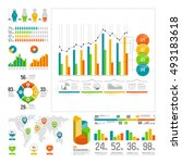 infographics set with color... | Shutterstock .eps vector #493183618