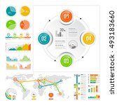 infographics set with color... | Shutterstock .eps vector #493183660