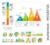 infographics set with color... | Shutterstock .eps vector #493183720